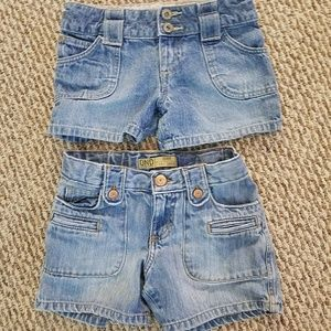Other - Set of TWO/Little girl's denim shorts